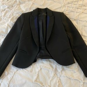 Zara basics blazer with blue details on collar